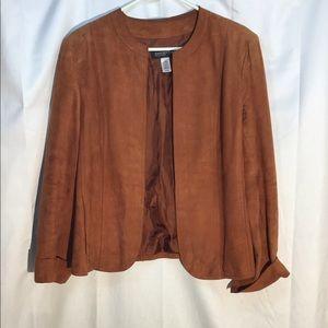 Jones New York Collection Leather Blazer / Rust